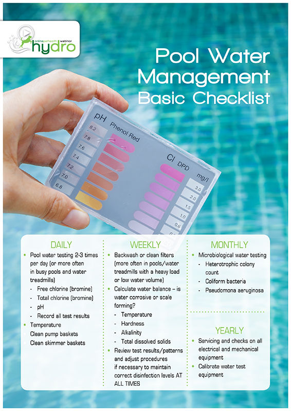 Water Test for Hydrotherapy Pools